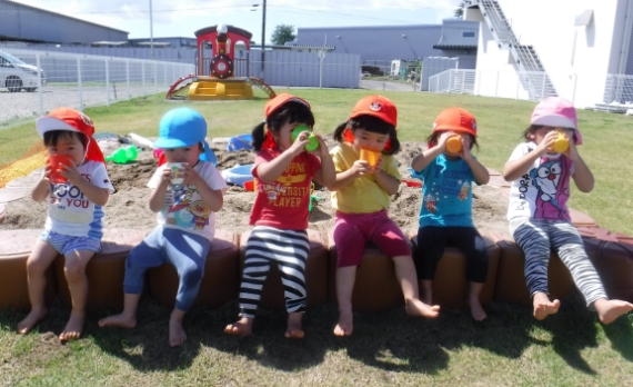 the Kyokuyo Happiness Nursery on-site childcare facility
